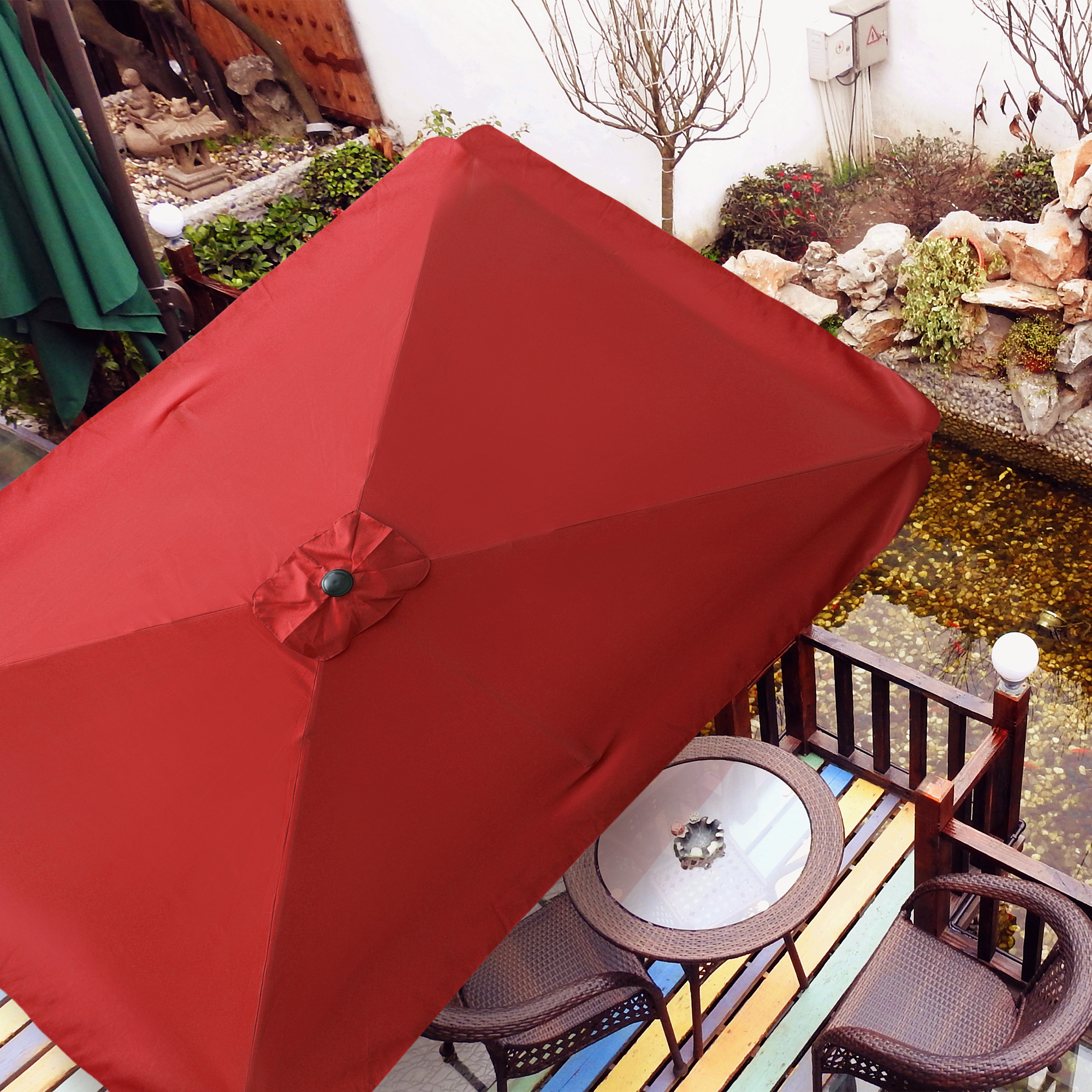 thumbnail 254 - 8'/9'/10'/13' Umbrella Replacement Canopy 8 Rib Outdoor Patio Top Cover Only Opt