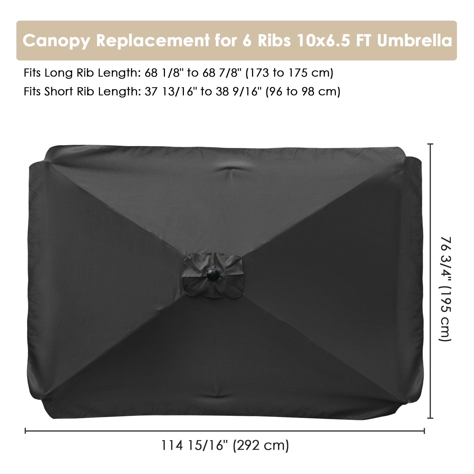 thumbnail 130 - 8'/9'/10'/13' Umbrella Replacement Canopy 8 Rib Outdoor Patio Top Cover Only Opt