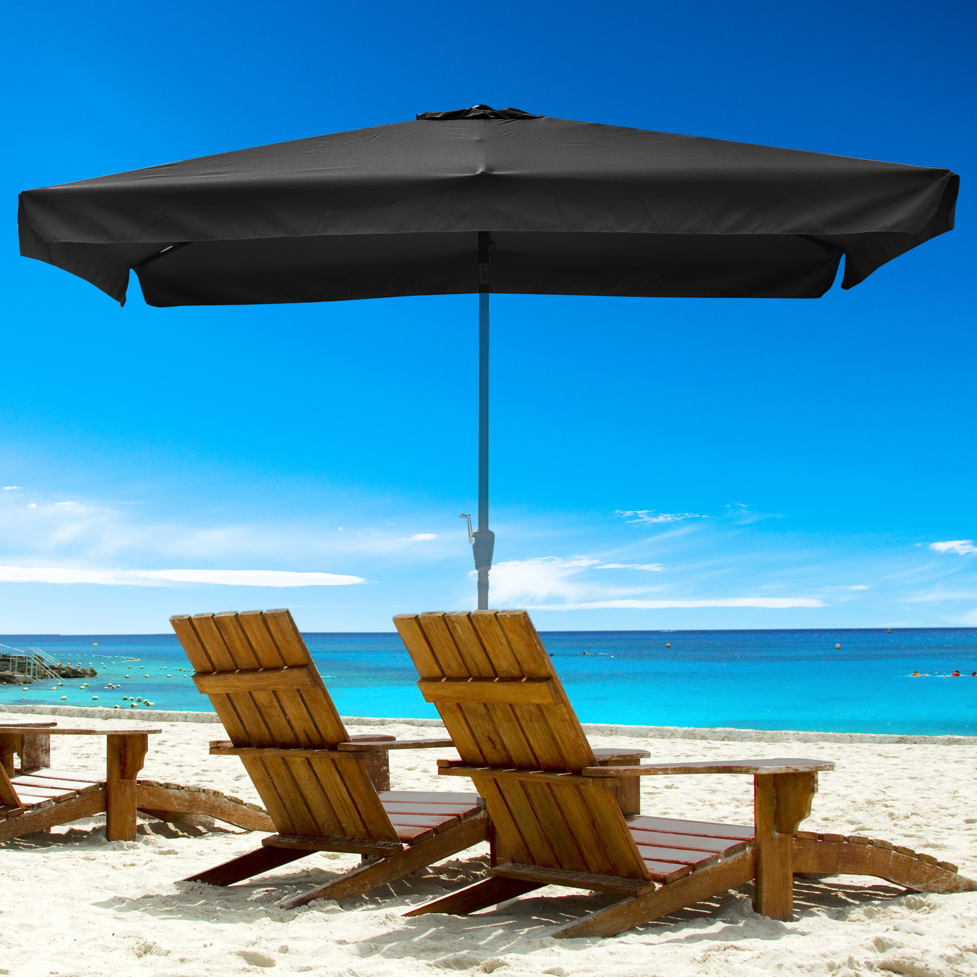 thumbnail 132 - 8'/9'/10'/13' Umbrella Replacement Canopy 8 Rib Outdoor Patio Top Cover Only Opt
