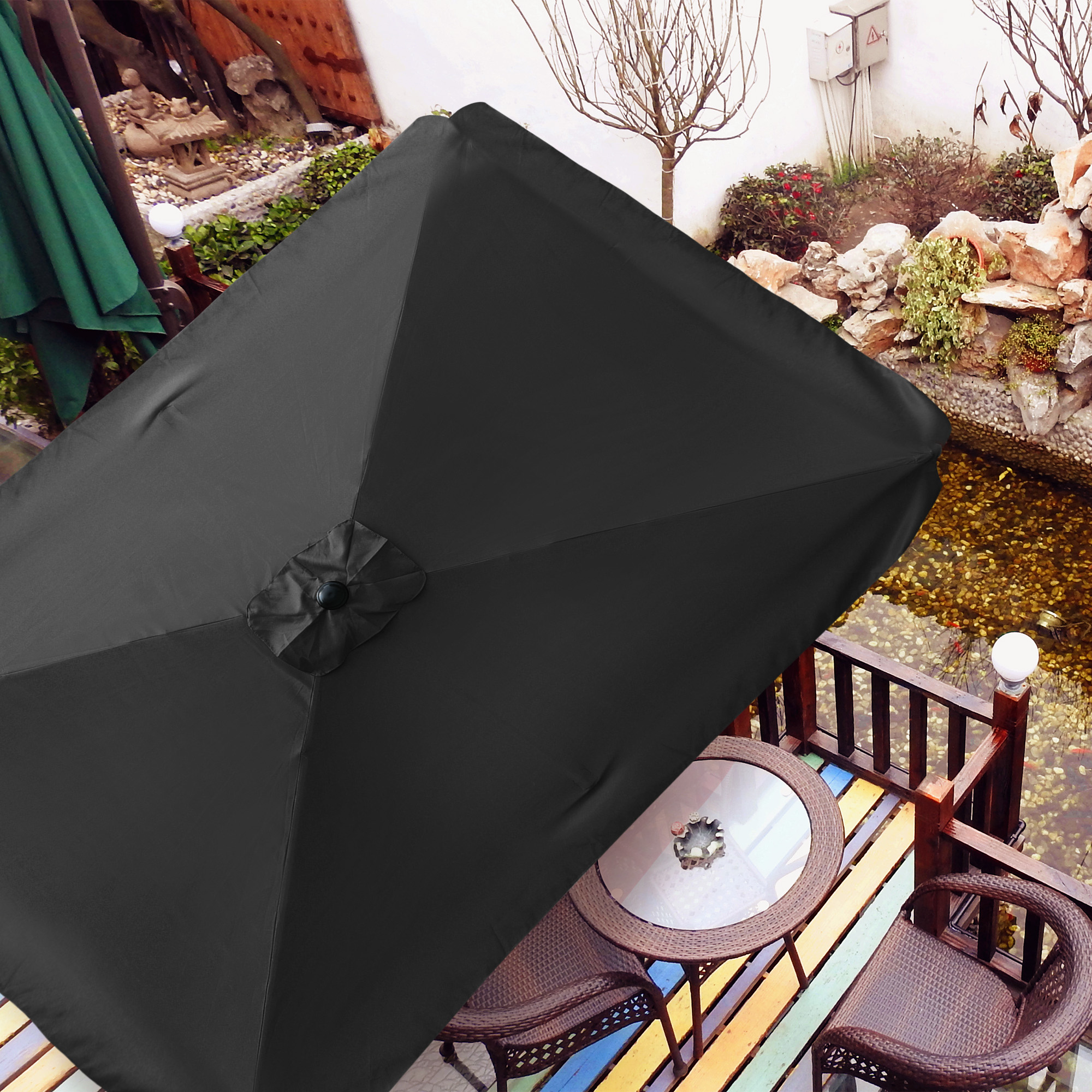thumbnail 133 - 8'/9'/10'/13' Umbrella Replacement Canopy 8 Rib Outdoor Patio Top Cover Only Opt