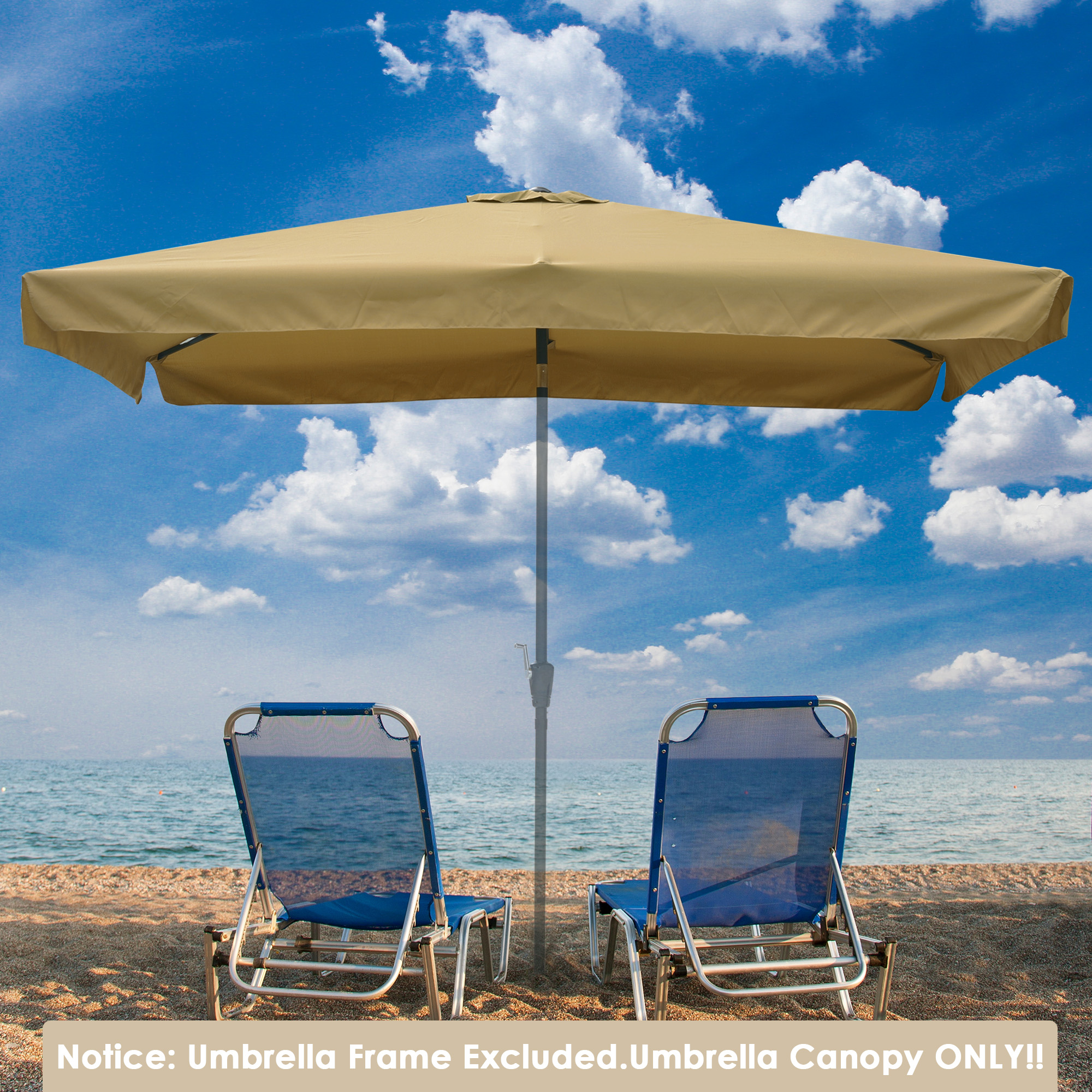 thumbnail 173 - 8'/9'/10'/13' Umbrella Replacement Canopy 8 Rib Outdoor Patio Top Cover Only Opt