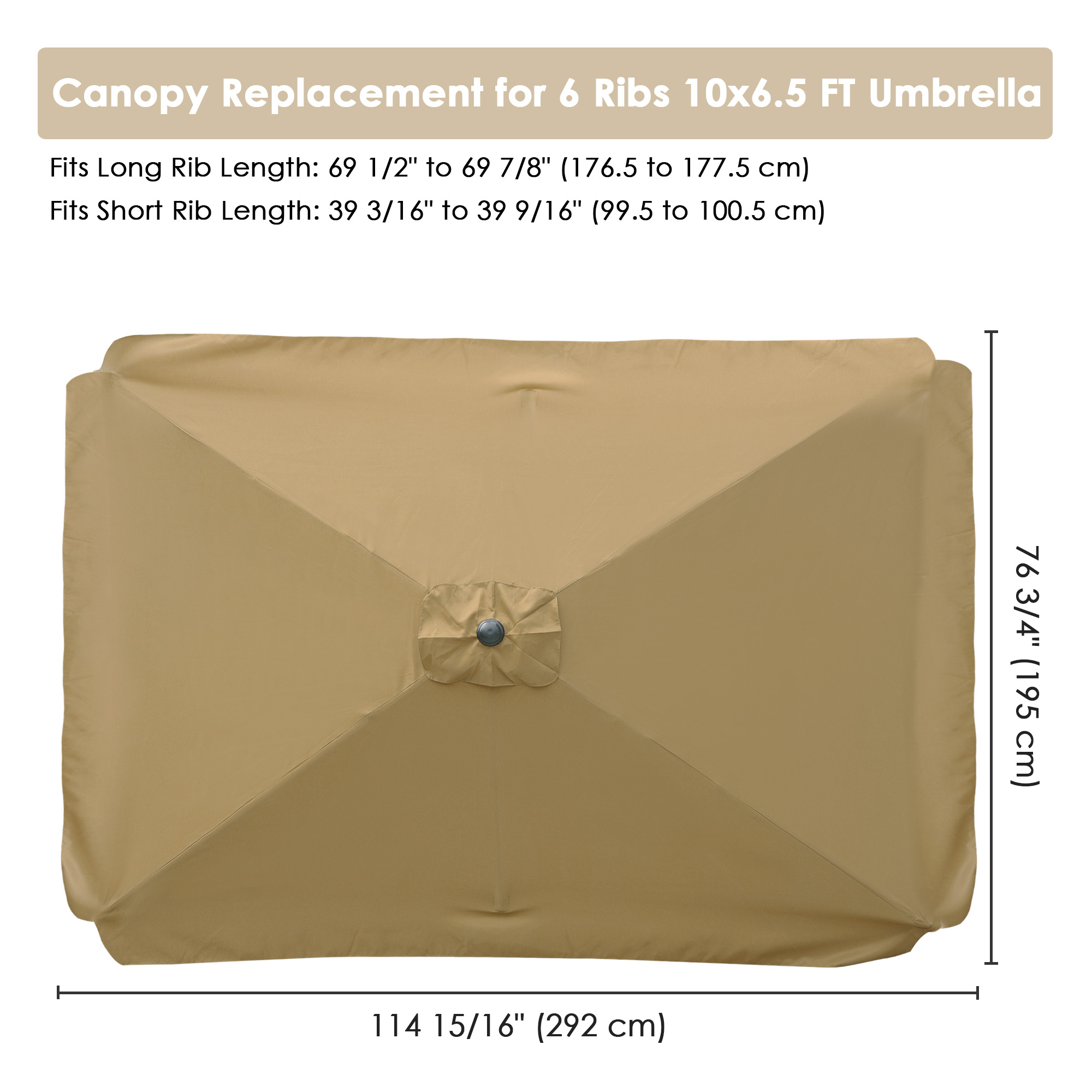 thumbnail 174 - 8'/9'/10'/13' Umbrella Replacement Canopy 8 Rib Outdoor Patio Top Cover Only Opt