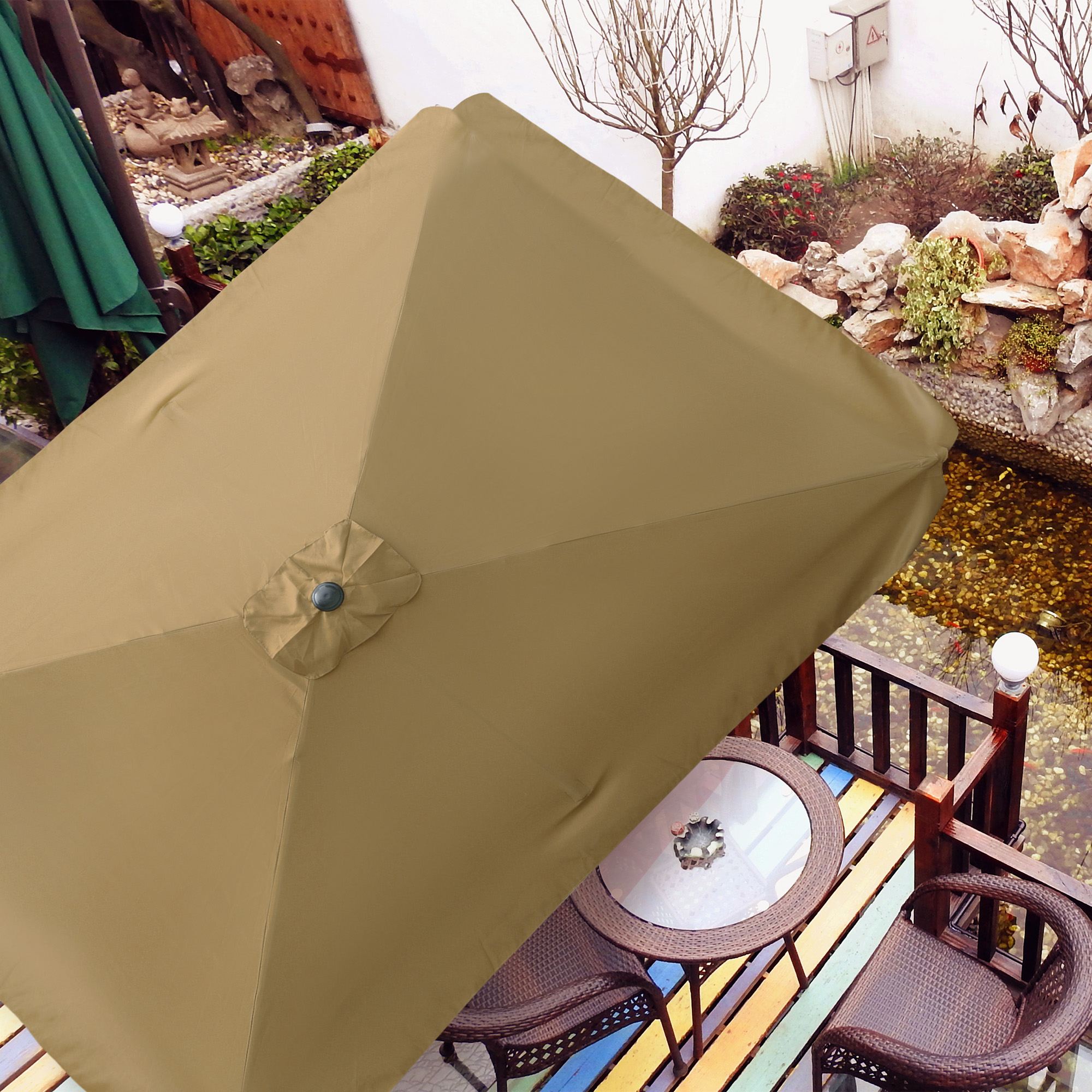 thumbnail 176 - 8'/9'/10'/13' Umbrella Replacement Canopy 8 Rib Outdoor Patio Top Cover Only Opt