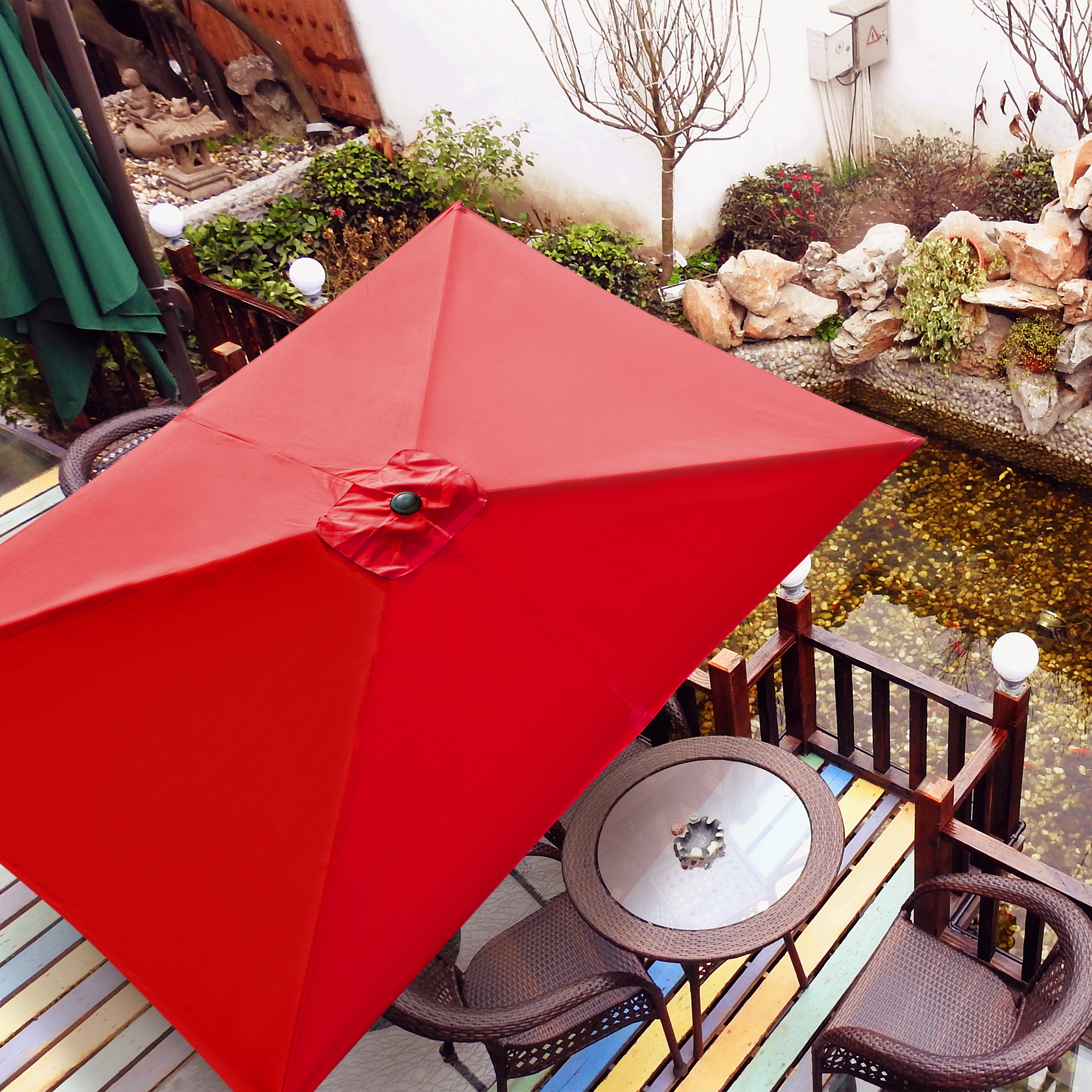 thumbnail 265 - 8'/9'/10'/13' Umbrella Replacement Canopy 8 Rib Outdoor Patio Top Cover Only Opt