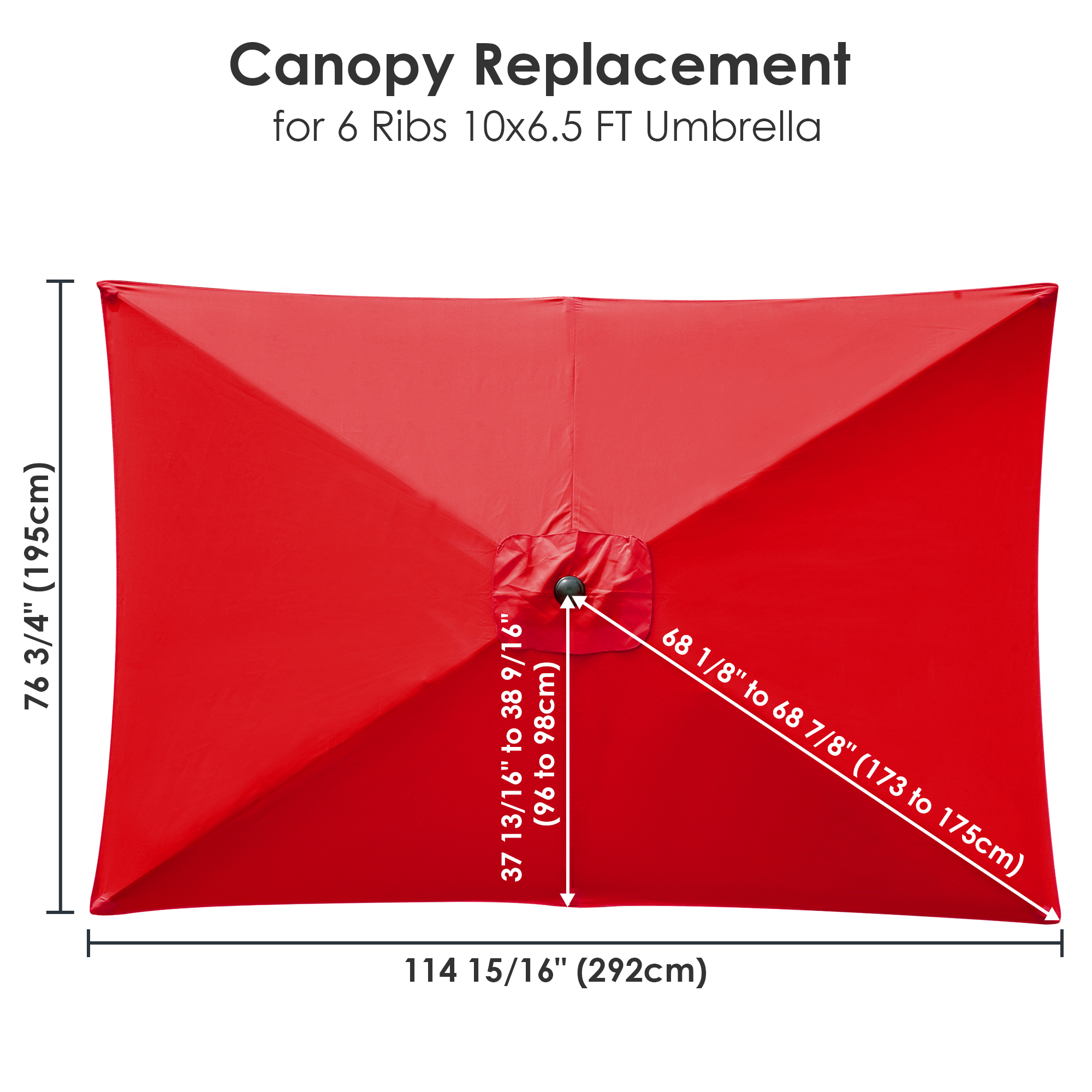 thumbnail 263 - 8'/9'/10'/13' Umbrella Replacement Canopy 8 Rib Outdoor Patio Top Cover Only Opt