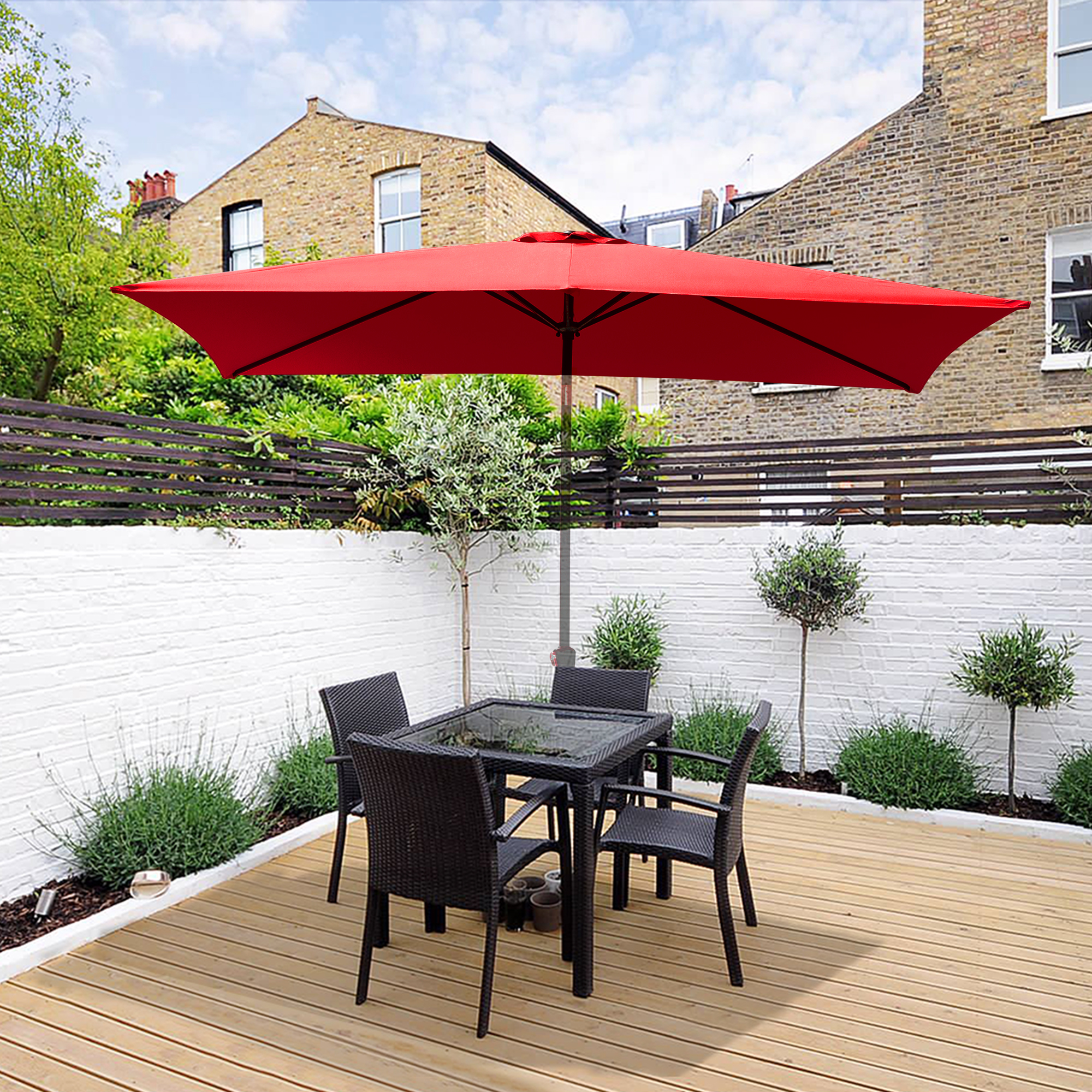 thumbnail 266 - 8'/9'/10'/13' Umbrella Replacement Canopy 8 Rib Outdoor Patio Top Cover Only Opt