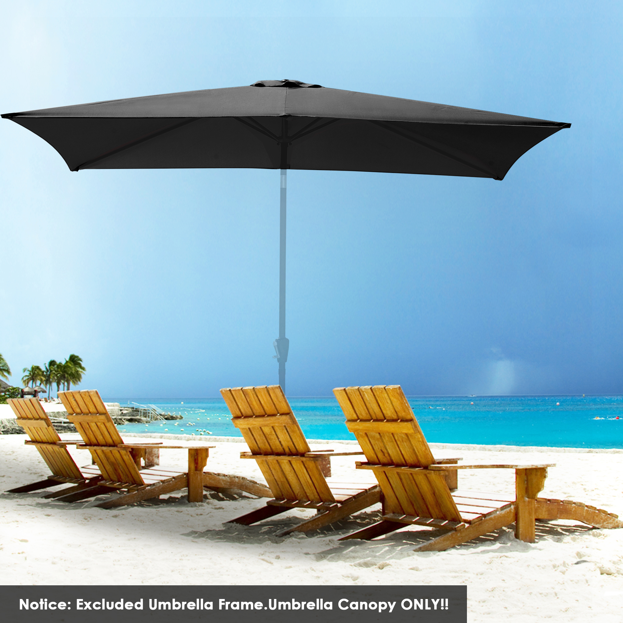 thumbnail 143 - 8'/9'/10'/13' Umbrella Replacement Canopy 8 Rib Outdoor Patio Top Cover Only Opt