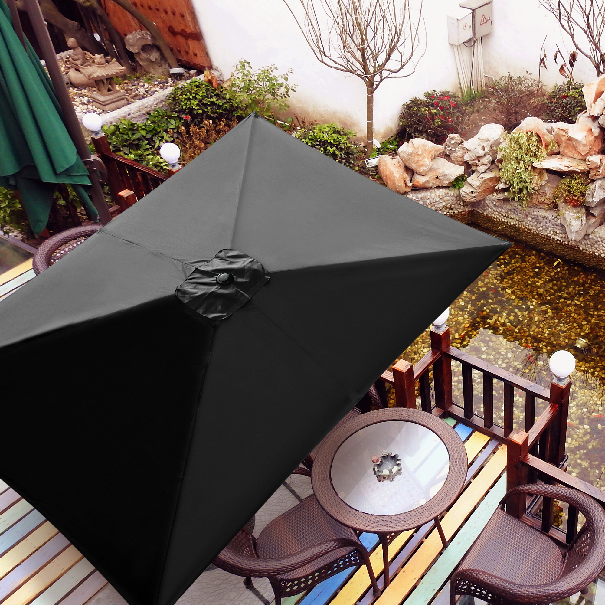 thumbnail 144 - 8'/9'/10'/13' Umbrella Replacement Canopy 8 Rib Outdoor Patio Top Cover Only Opt