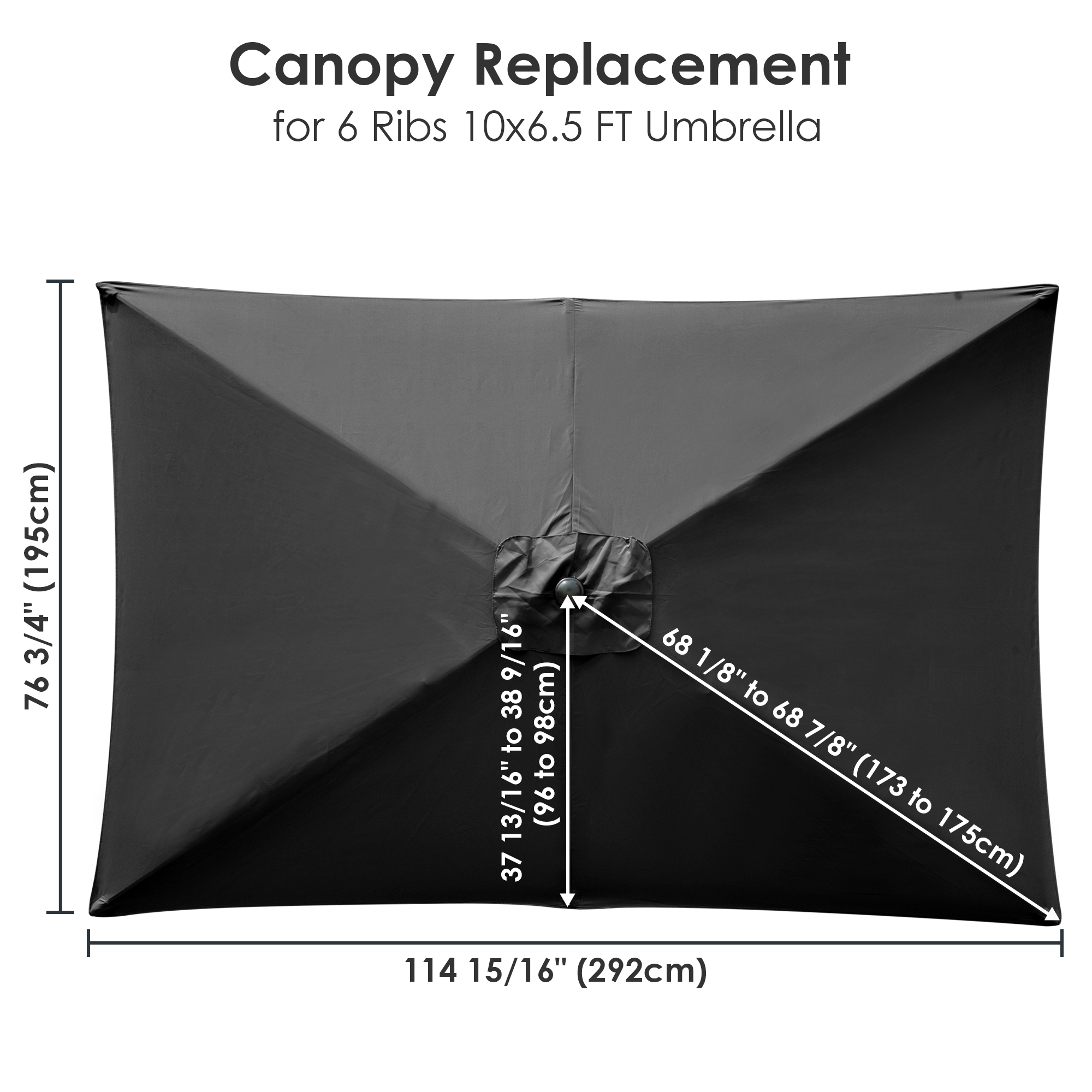 thumbnail 142 - 8'/9'/10'/13' Umbrella Replacement Canopy 8 Rib Outdoor Patio Top Cover Only Opt