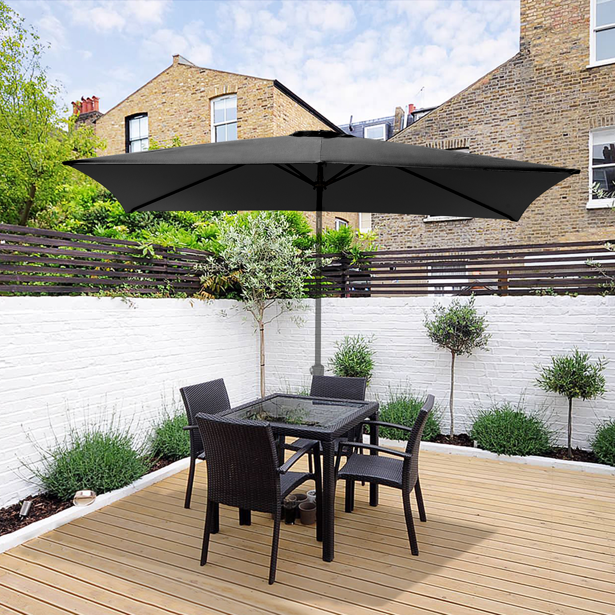 thumbnail 145 - 8'/9'/10'/13' Umbrella Replacement Canopy 8 Rib Outdoor Patio Top Cover Only Opt