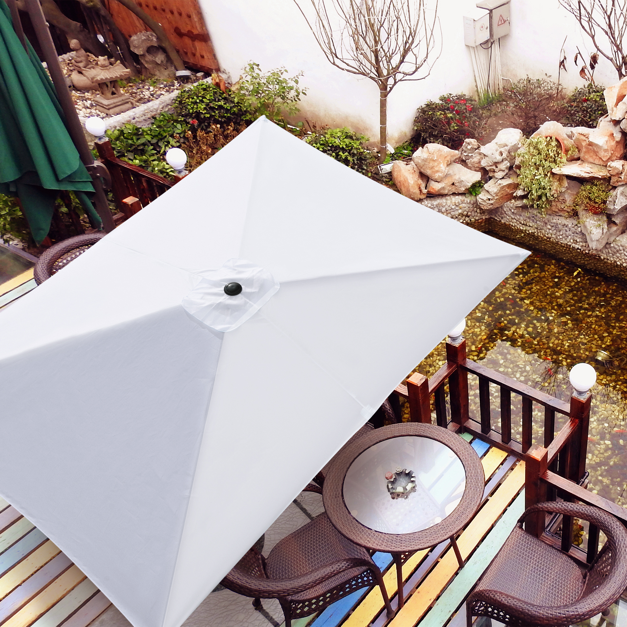 thumbnail 283 - 8'/9'/10'/13' Umbrella Replacement Canopy 8 Rib Outdoor Patio Top Cover Only Opt