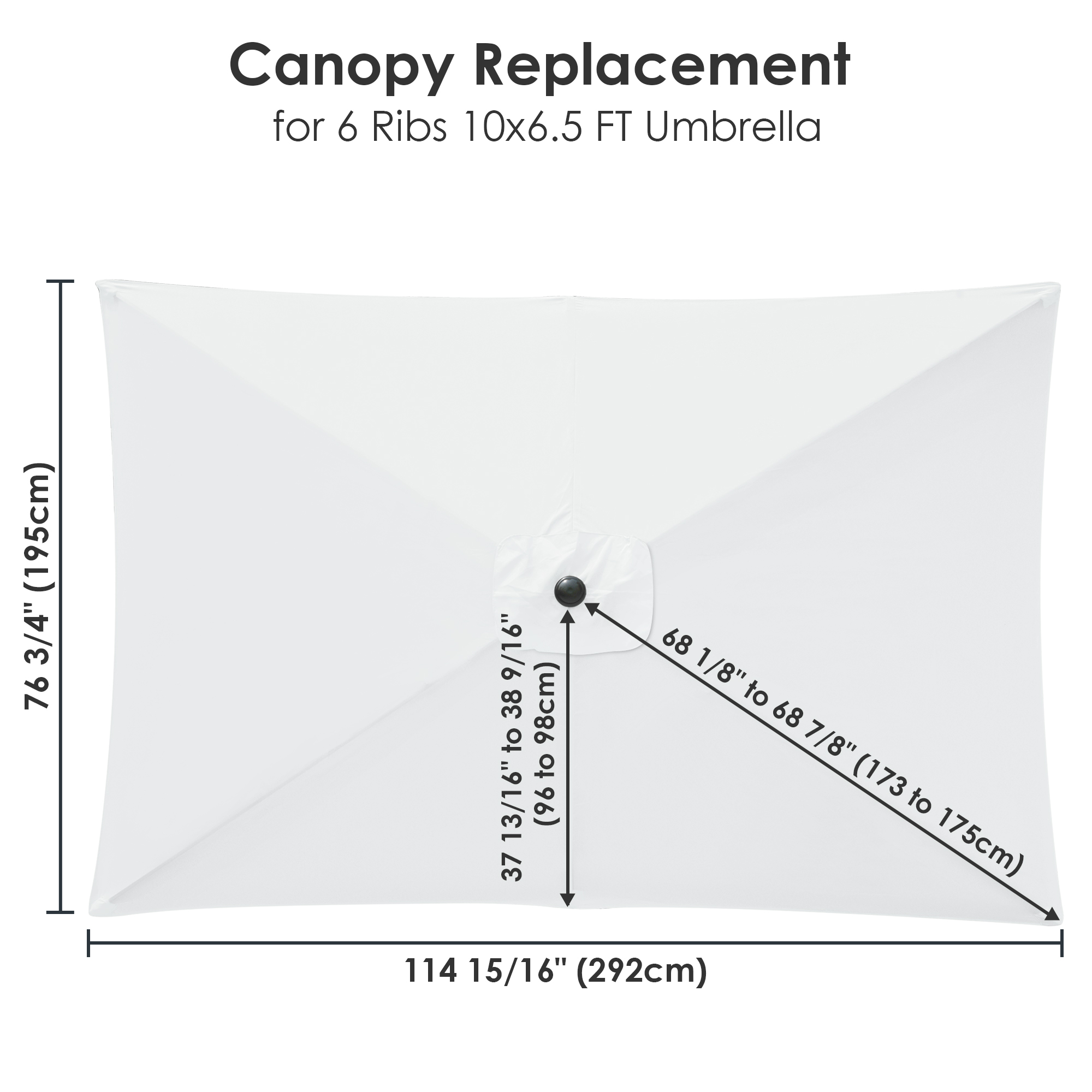 thumbnail 281 - 8'/9'/10'/13' Umbrella Replacement Canopy 8 Rib Outdoor Patio Top Cover Only Opt