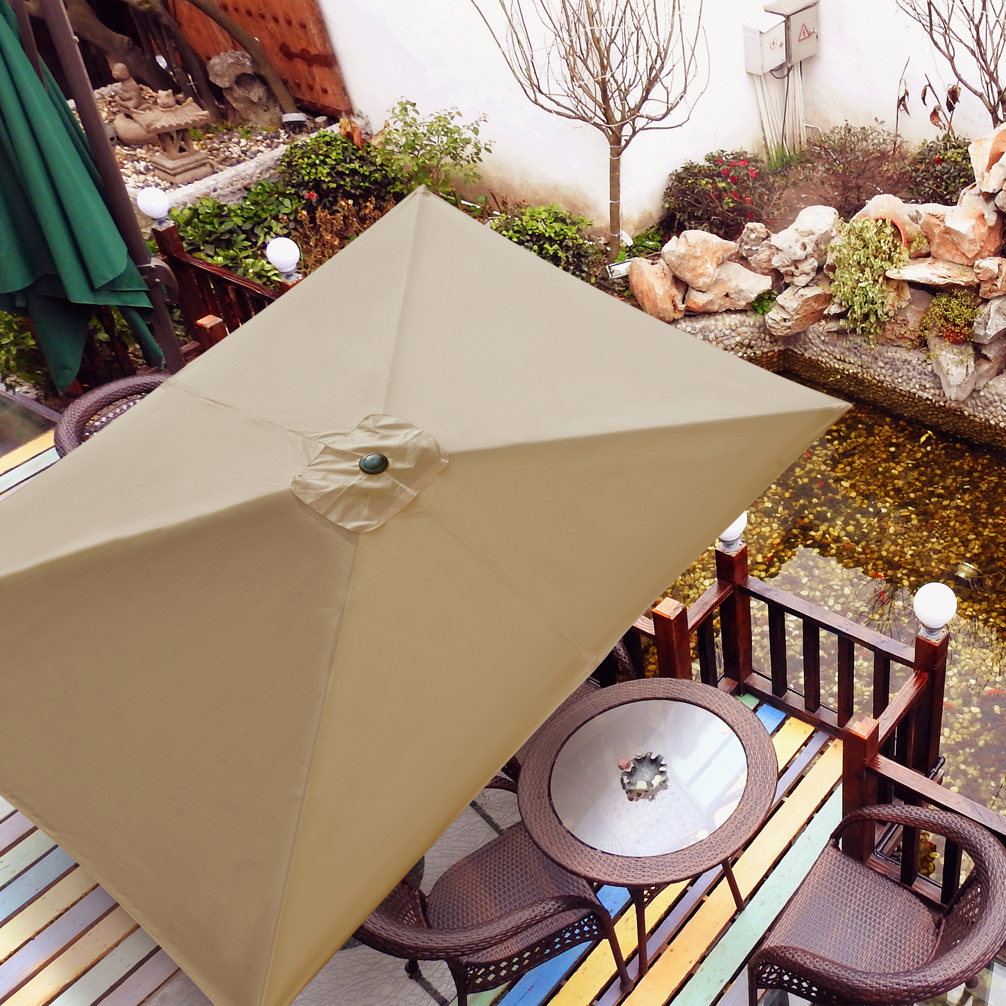 thumbnail 188 - 8'/9'/10'/13' Umbrella Replacement Canopy 8 Rib Outdoor Patio Top Cover Only Opt