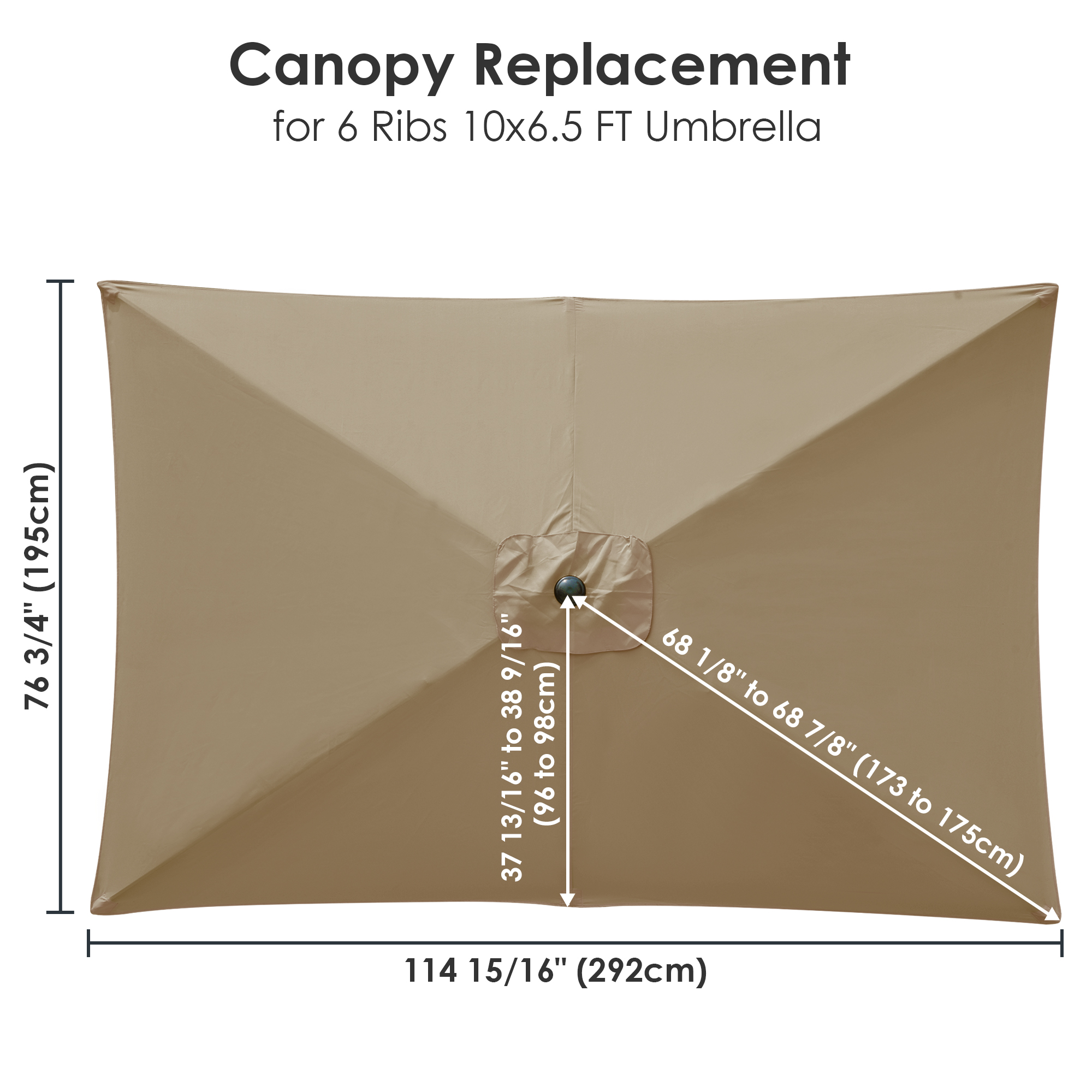 thumbnail 186 - 8'/9'/10'/13' Umbrella Replacement Canopy 8 Rib Outdoor Patio Top Cover Only Opt