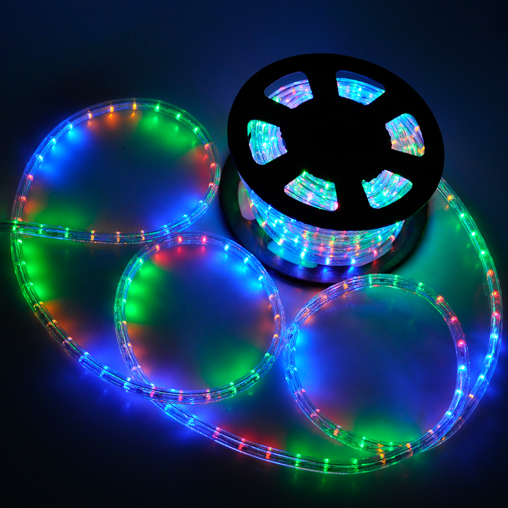 Led Decoration Lights: 50' LED Rope Light Flex 2 Wire Outdoor Holiday Décor