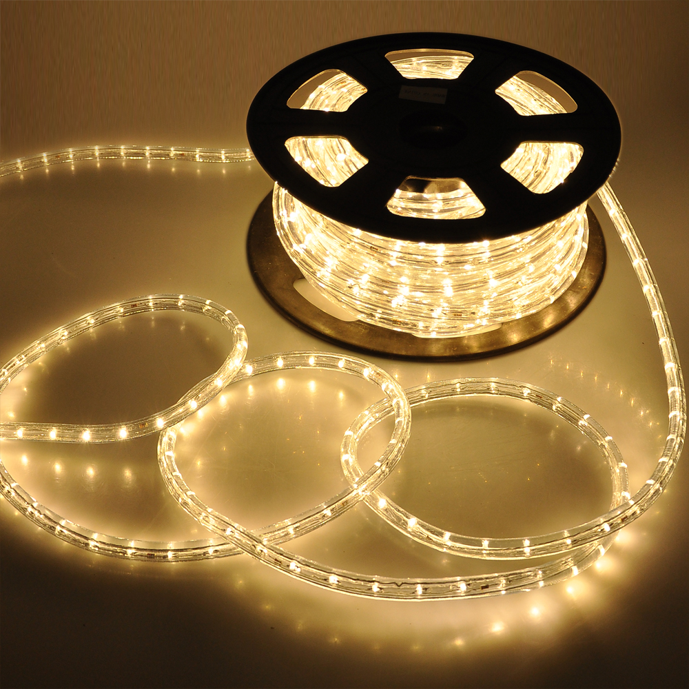 50' LED Rope Light Flex 2 Wire Outdoor Holiday Décor Valentine Lighting 110V | eBay