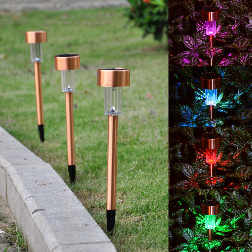 5 Pathway Lighting Tips Ideas Walkway Lights Guide: 12PCS Garden Outdoor Stainless Steel LED Solar Landscape