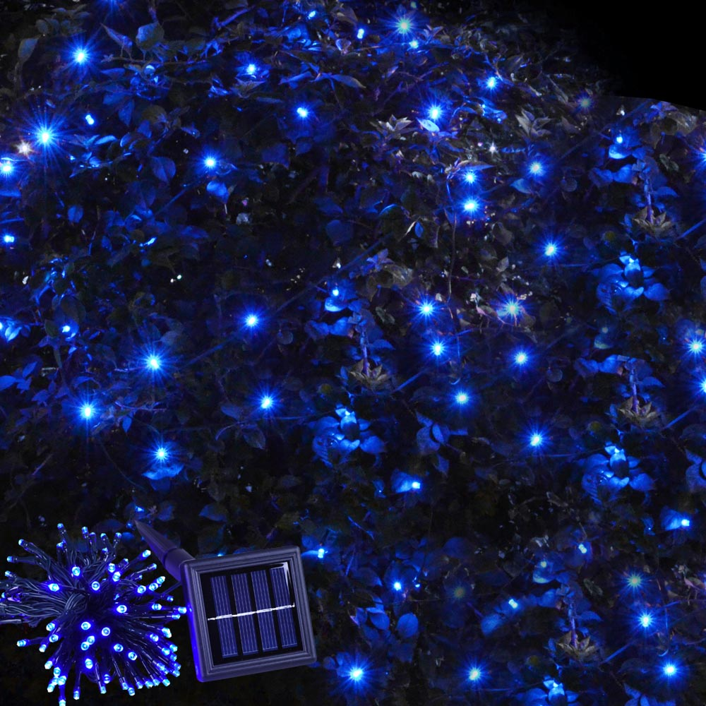 Solar powered 100 led string fairy tree light outdoor for Led yard lights
