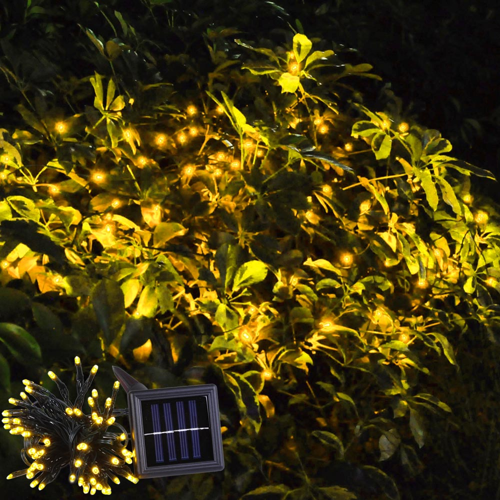 Led solar powered fairy string light outdoor