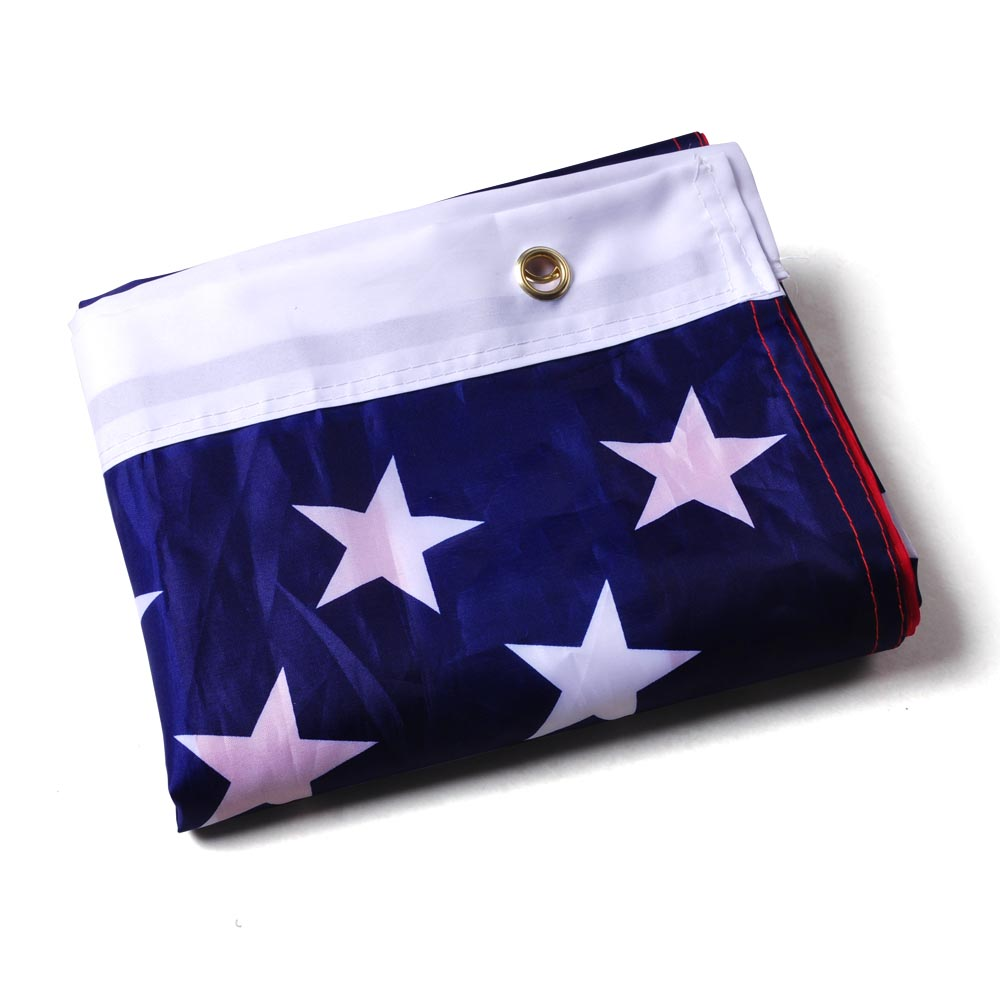 4-Pack 3x5 American Flags W/ Grommets