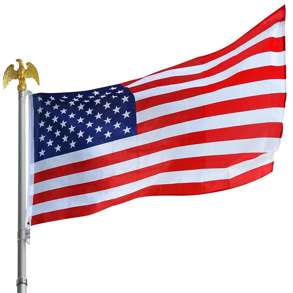 10pcs 3/'x5/' FT American Flag US USA Star Stripes Grommet Fit Flagpole Wholesale