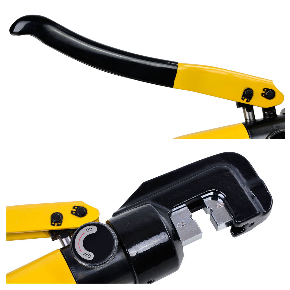 10 ton hydraulic crimper crimping tool w 9 dies wire battery cable lug terminal ebay. Black Bedroom Furniture Sets. Home Design Ideas