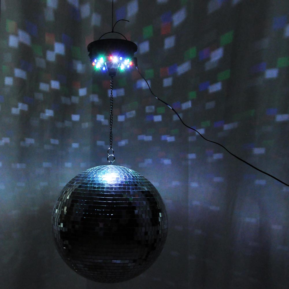 12 Quot Mirror Disco Ball Dj Stage Party Led Light Rotating