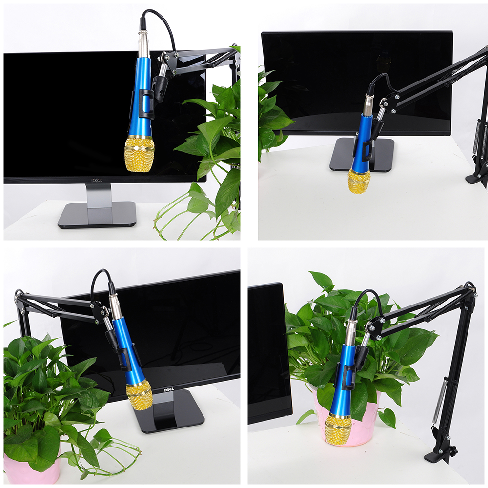 Mic Microphone Boom Stand Foldable Arm Holder For Studio