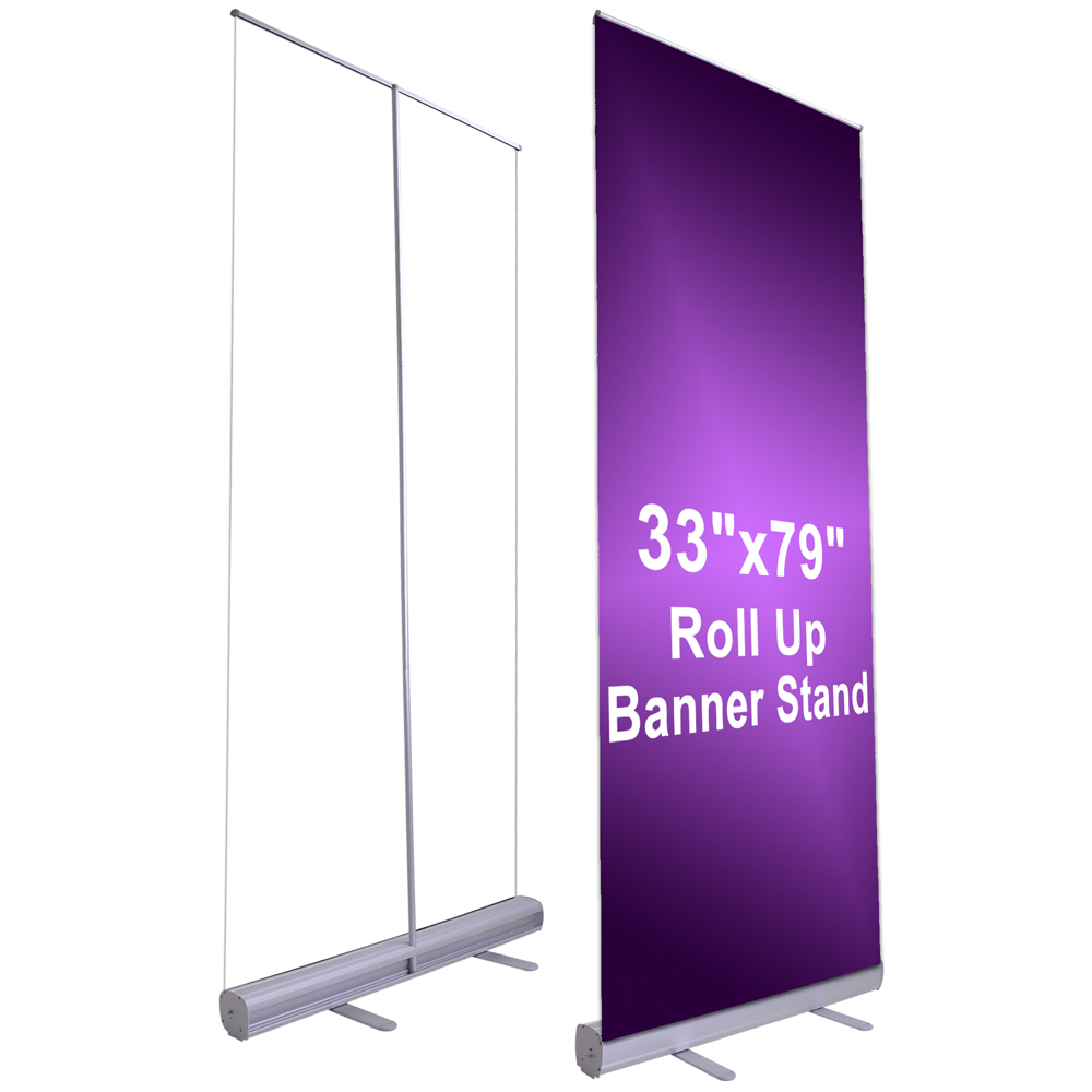 Expo Stands Economic : Pcs quot x retractable roll up banner stand wedding