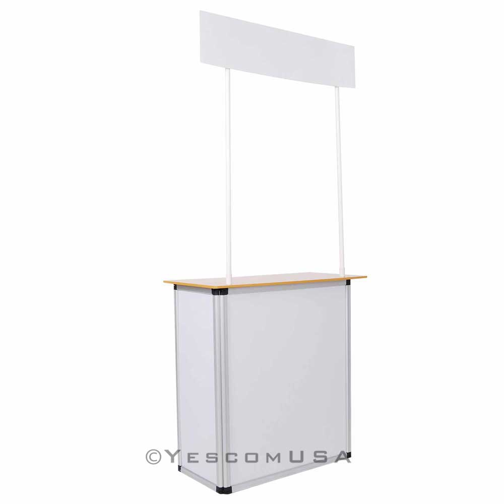 Popup Promotion Counter Table Booth Aluminum Frame Demo Display Kiosk Trade  Show