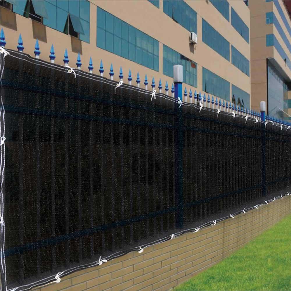 4 X50 Fence Screen Cover Green Black Flat Fabric Slat