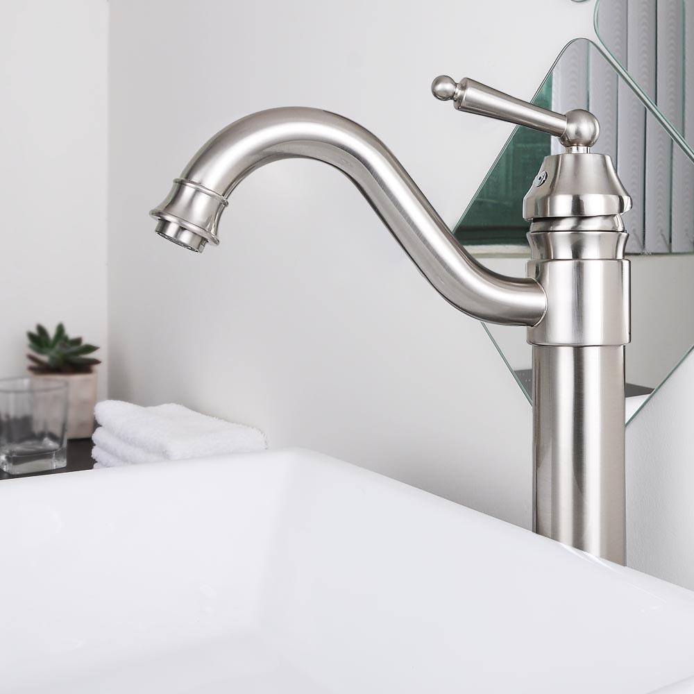 Bathroom Faucet Vessel Sink Basin Swivel Mixer Tap Lavatory One Hole ...