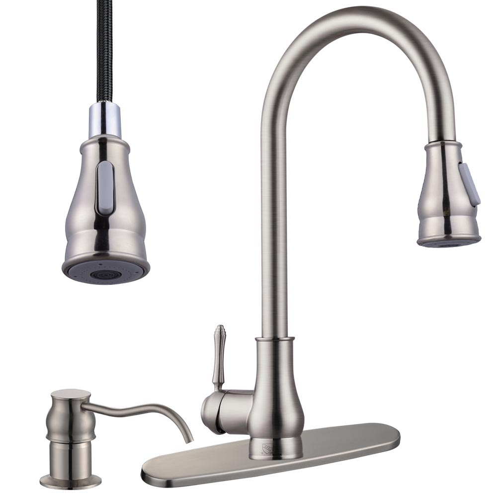 18 Quot Pull Down Kitchen Sink Faucet With Soap Dispenser Ebay