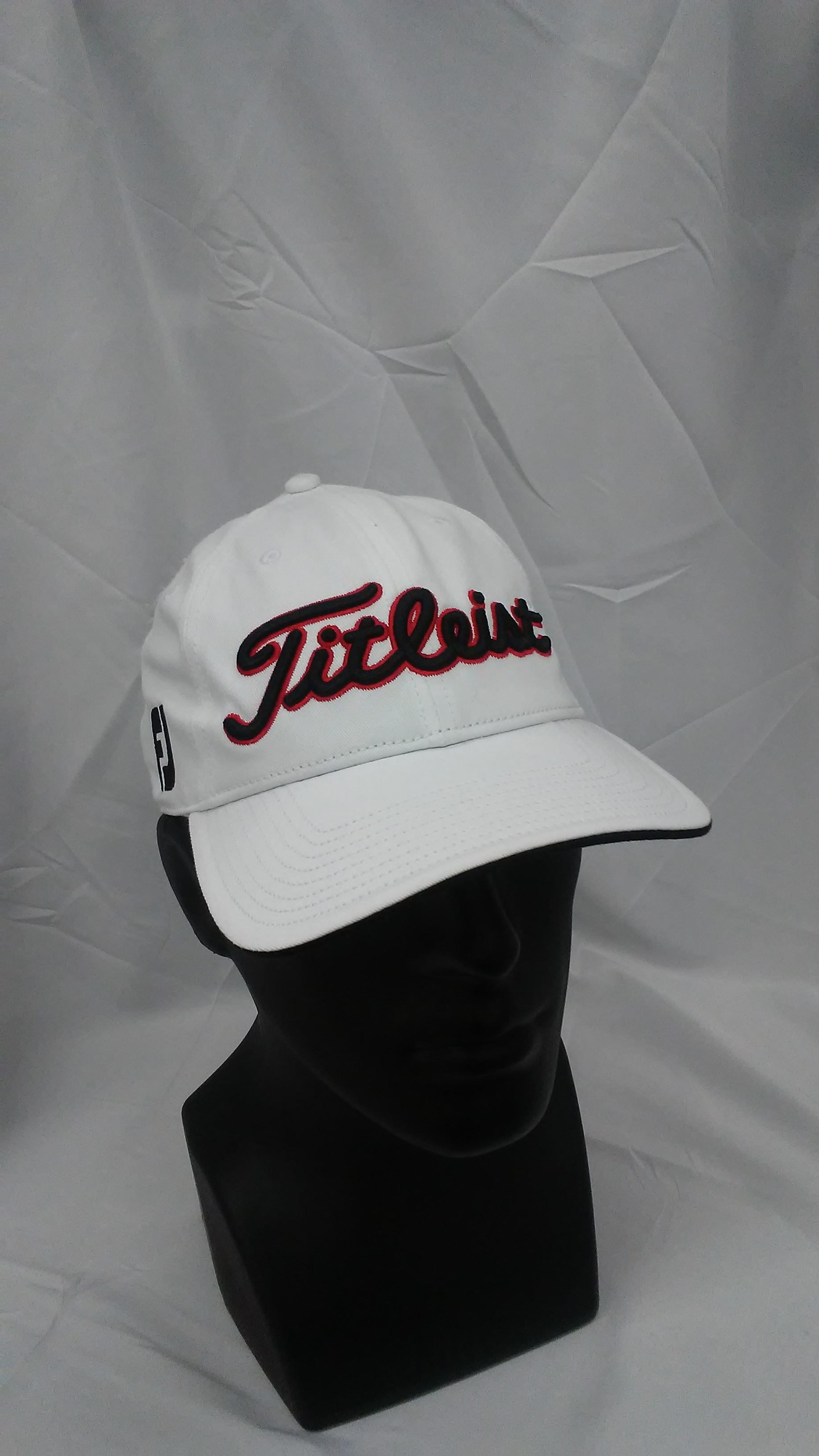 149c631eeb2 Visit our eBay Store for more great deals  Hurricane Golf New Titleist Golf  Tour Adjustable Hat White PRO V1   FootJoy Logos BUY IT NOW  17.99!