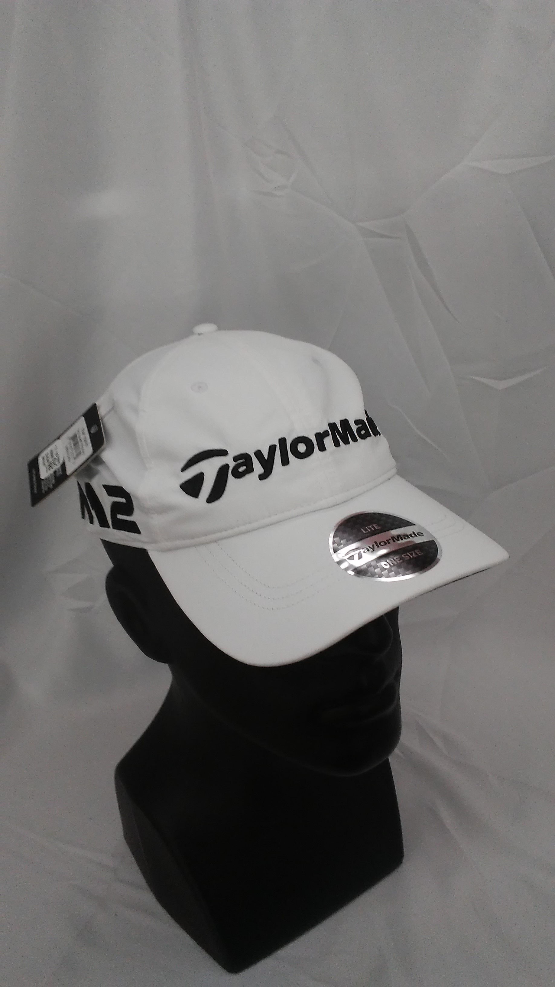 d9bb58a4b Details about Men's TaylorMade Golf 2017 LiteTech Tour Adjustable Hat White  M1 & M2 Logos