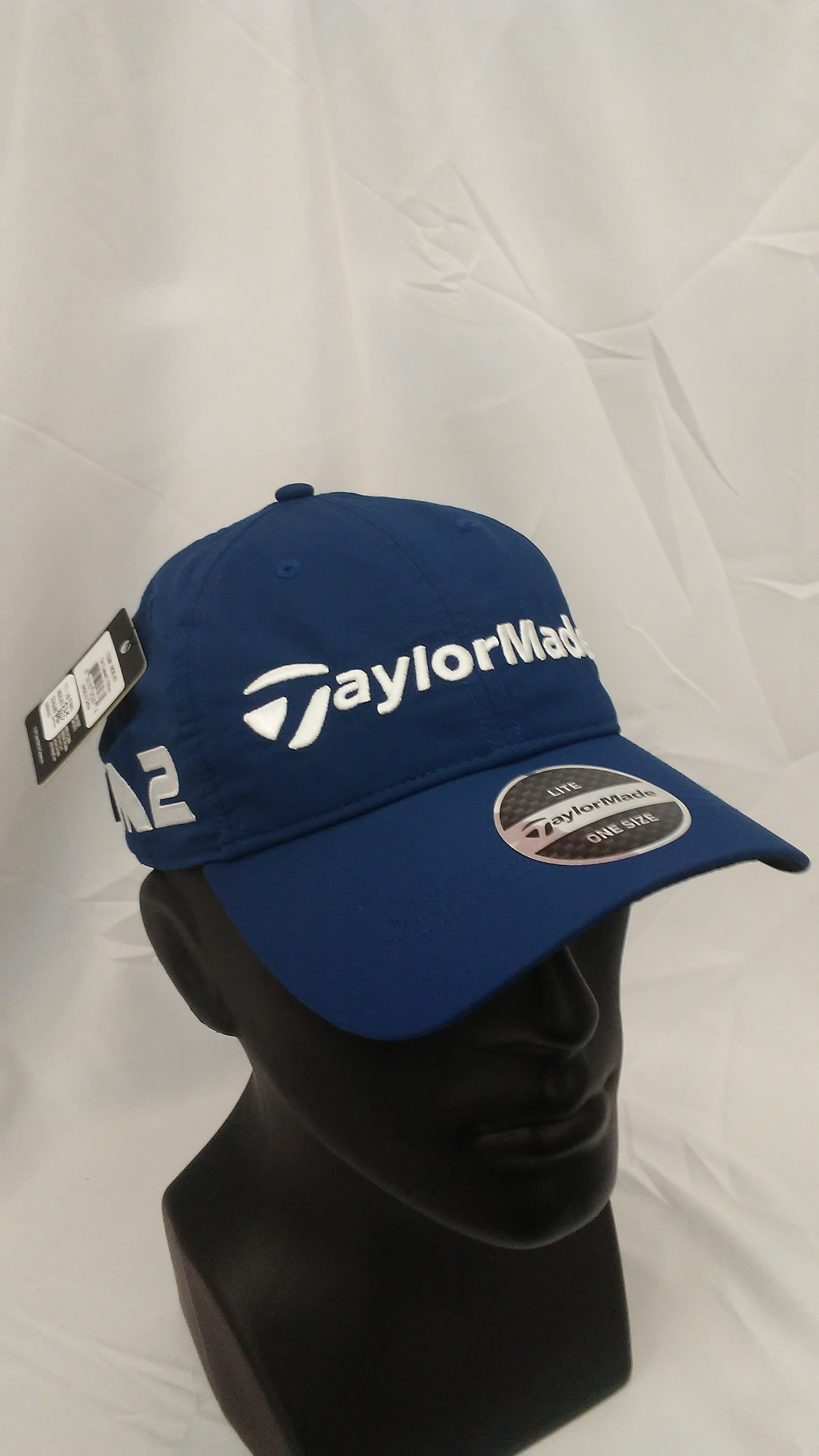 09e8a38bb Details about Men's TaylorMade Golf LiteTech Tour Authentic Adjustable Hat  Navy M1 & M2