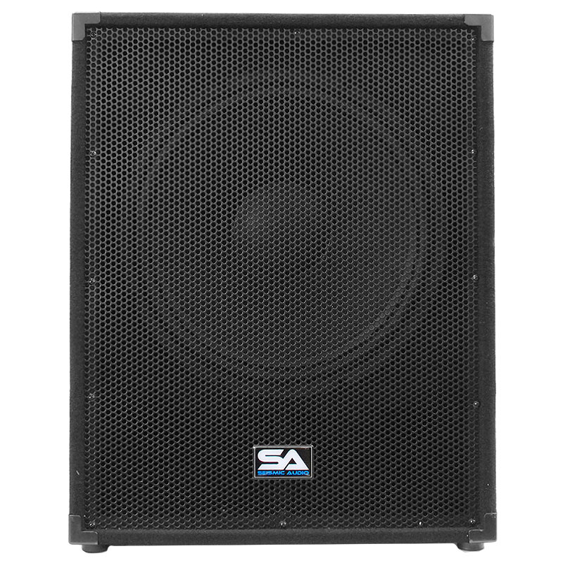 pair of seismic audio 18 pa powered subwoofer active speakers 800 watts each ebay. Black Bedroom Furniture Sets. Home Design Ideas