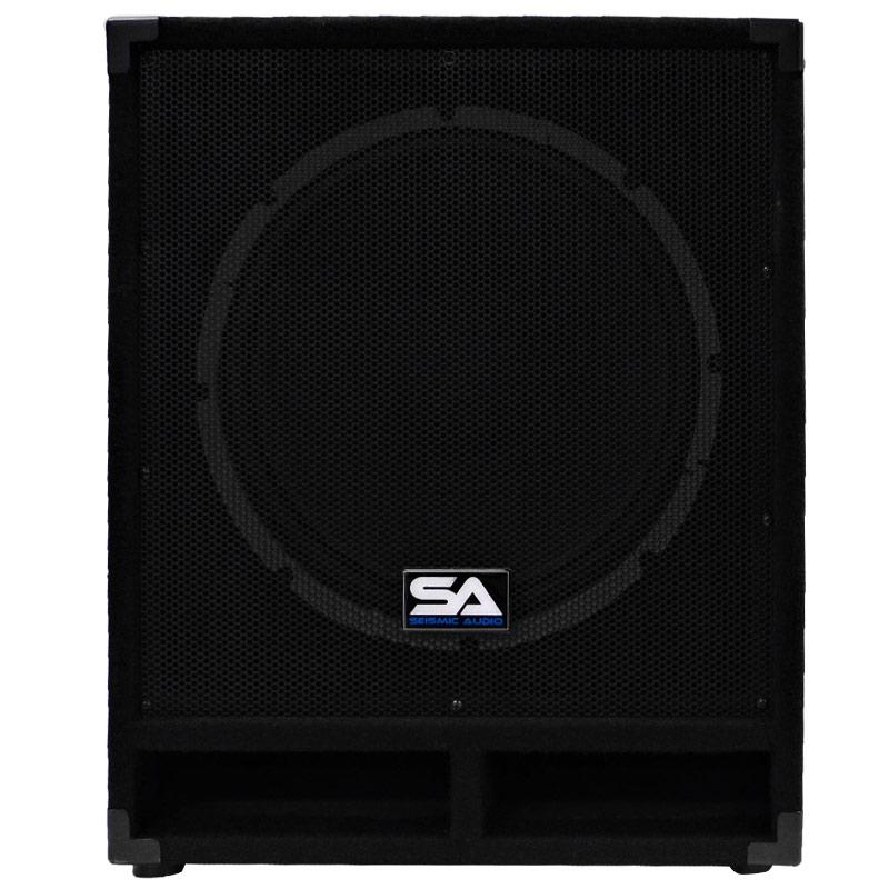 seismic audio powered 15 subwoofer cabinet pa dj pro band speaker active sub 847861013349 ebay. Black Bedroom Furniture Sets. Home Design Ideas