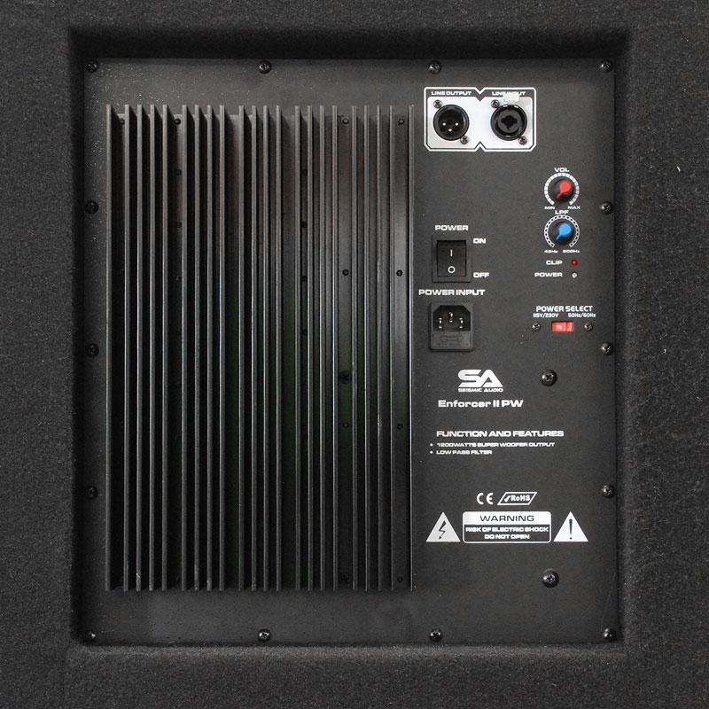 seismic audio 18 pa powered subwoofer active speaker ebay. Black Bedroom Furniture Sets. Home Design Ideas