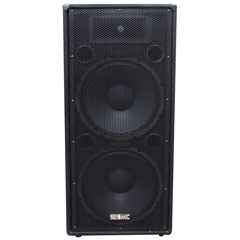 Pair Of Dual 15 Quot Pa Dj Speaker Cabinets With Titanium