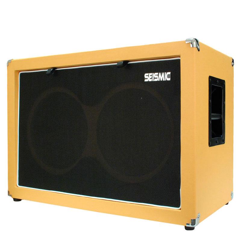 seismic audio empty guitar speaker cabinet 2x12 cab 212 orange tolex ebay. Black Bedroom Furniture Sets. Home Design Ideas