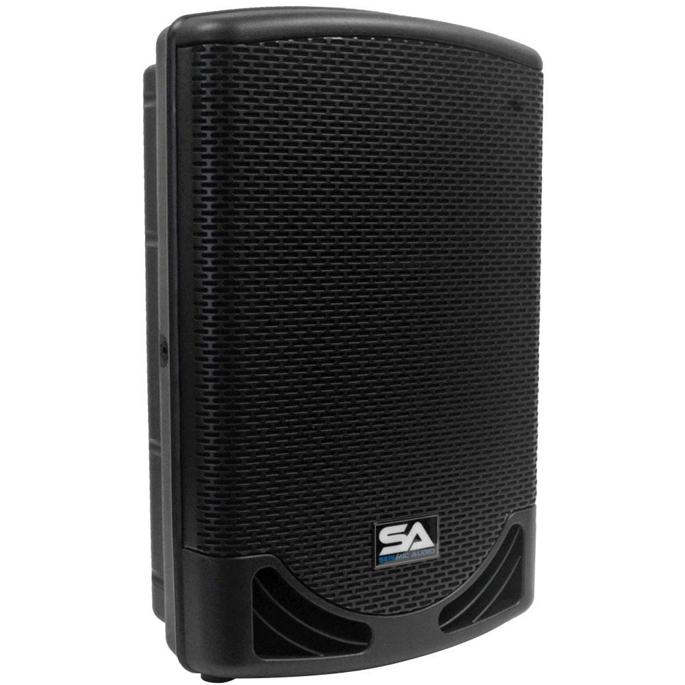 seismic audio powered 12 2 way loudspeaker pa dj molded loudspeaker 500 watts ebay. Black Bedroom Furniture Sets. Home Design Ideas