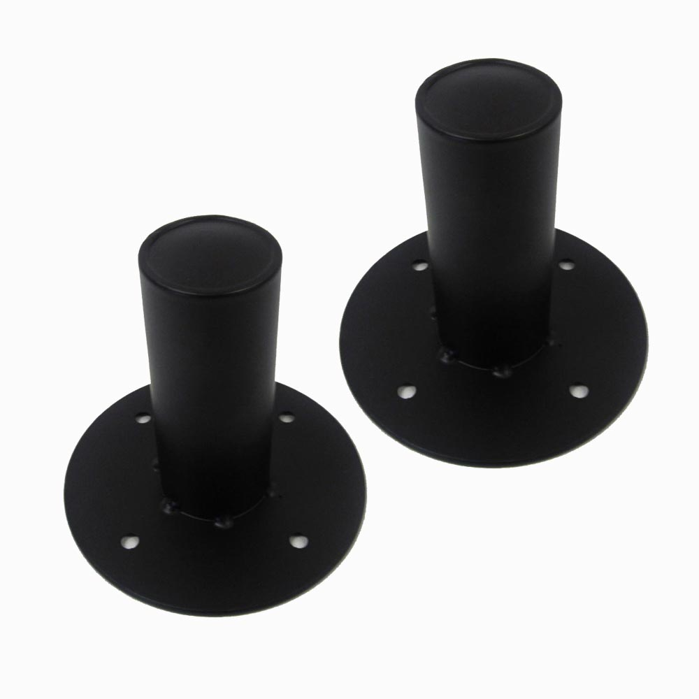 seismic audio two metal tripod speaker stand pole mounts top hats pa ebay. Black Bedroom Furniture Sets. Home Design Ideas