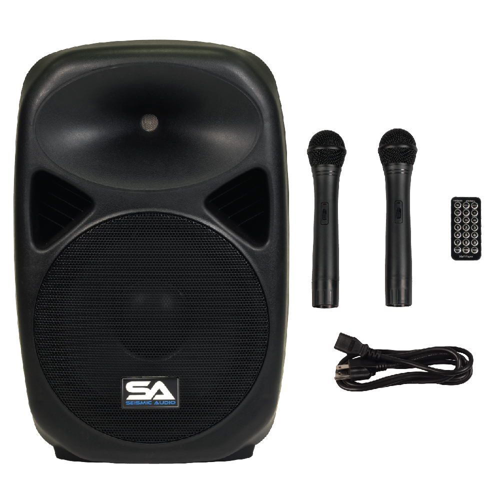 Seismic Audio Powered 12 Quot Pa Speaker Rechargeable With 2