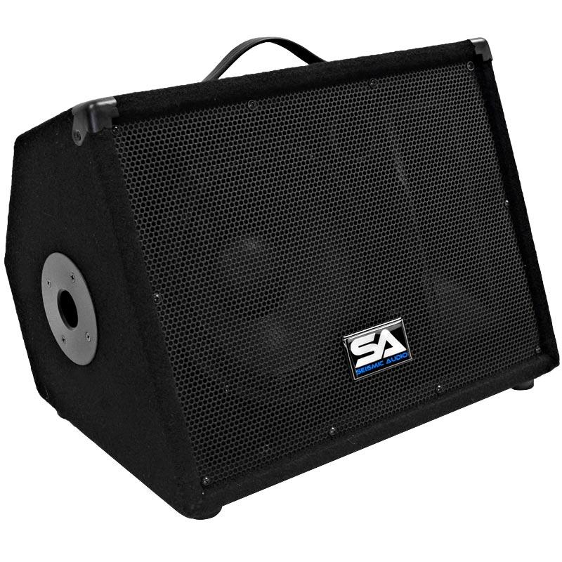 seismic audio new 10 inch floor monitors studio speakers pa dj band. Black Bedroom Furniture Sets. Home Design Ideas