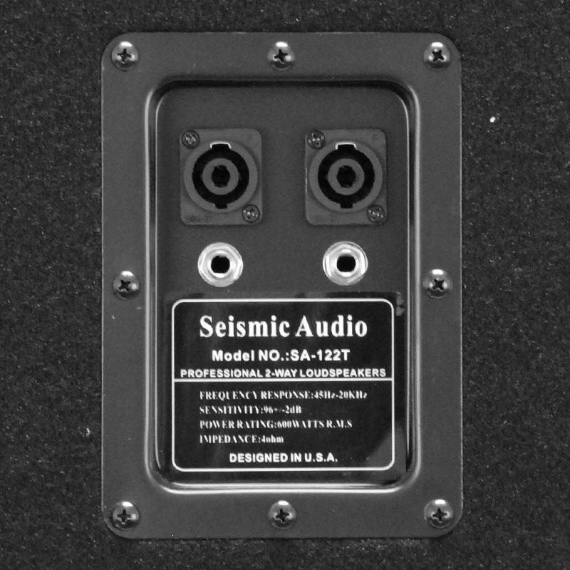 seismic audio pair dual 12 pa dj speakers 1200 watts pro audio band. Black Bedroom Furniture Sets. Home Design Ideas