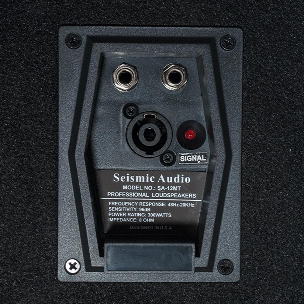 2 new seismic audio 12 floor monitors pa dj speakers ebay. Black Bedroom Furniture Sets. Home Design Ideas