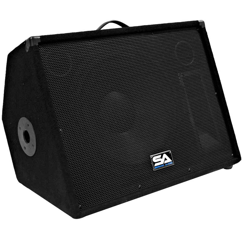 seismic audio pair 15 floor monitors stage studio pro pa dj speakers ebay. Black Bedroom Furniture Sets. Home Design Ideas