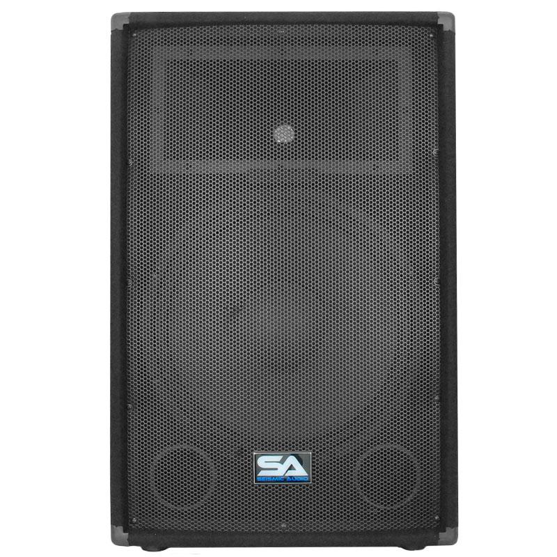 seismic audio pair 15 pa dj pro audio speakers 700 w new band club. Black Bedroom Furniture Sets. Home Design Ideas