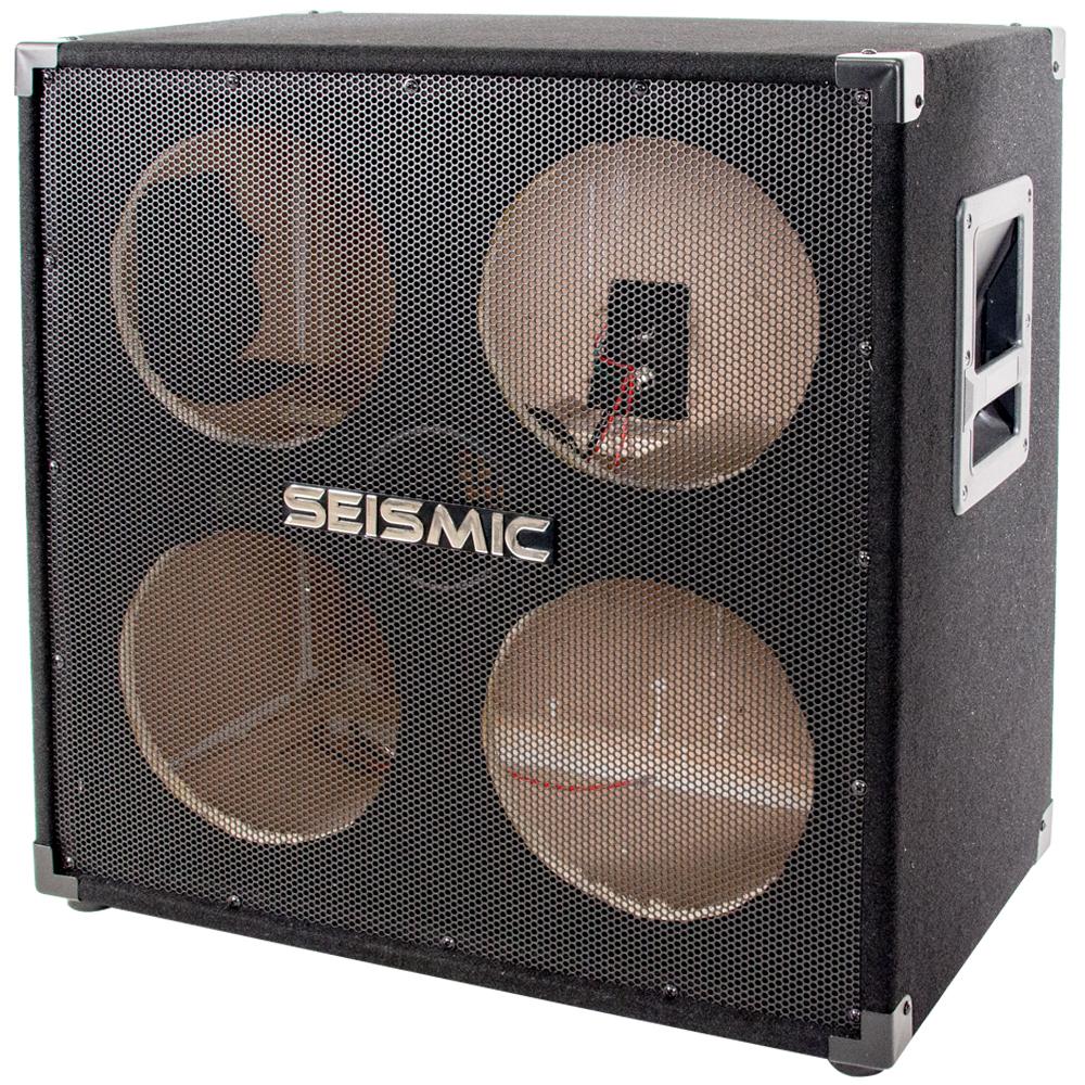 seismic audio 410 empty 4x10 bass guitar cabinet no woofers speakers ebay. Black Bedroom Furniture Sets. Home Design Ideas
